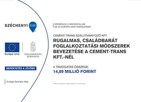 Cement Trans Kft. Széchenyi 2020