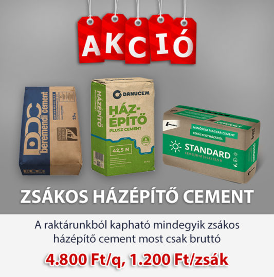 Zsákos házépítő cement